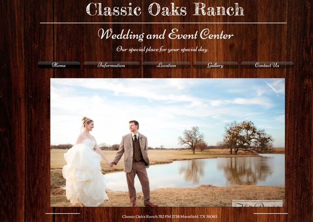 Best Wedding & Reception Venues in the Dallas-Fort Worth Metroplex: Classic Oaks Ranch